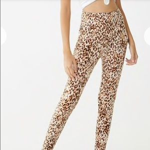 Forever 21 leopard print leggings new with tags